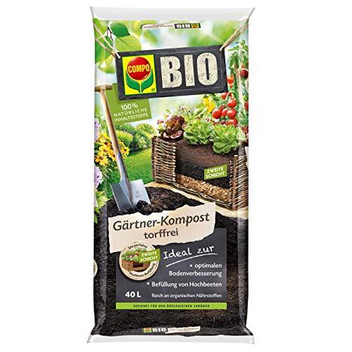 Compo Bio Gärtner-Kompost 40 L, braun