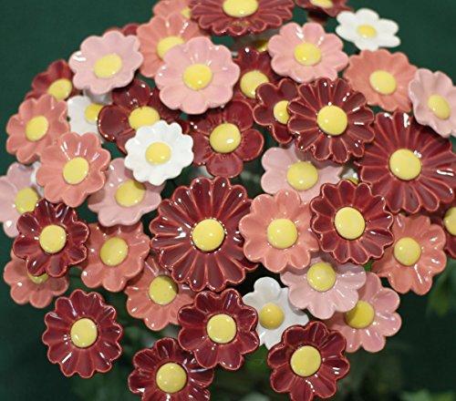 ROWE Deko Blumenset 10 Keramikblumen Herbst Valentinstag Geschenkset