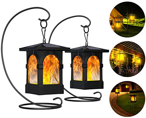 Fortand Solarlampe Gartenfackeln LED Fackel Solarleuchte Solar Gartenleuchte Hängende Solarleuchten...