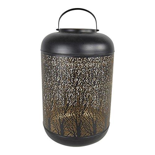 Lesli Living Orientalisches Windlicht Laterne Oval Tree Ø 30x50 cm Metall Kerzenhalter...