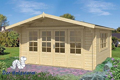 58 mm Gartenhaus Blackpool ca. 400x400 cm (Grau imprägniert)