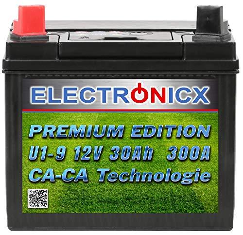 Electronicx U1(9) 30AH 300A (EN) Green Power Batterie für Aufsitzrasenmäher, Gartengeräte,...