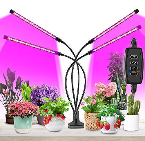 BESROY Pflanzenlampe LED,Pflanzenlicht, 4 Heads 360°Einstellbar Grow Lampe für Zimmerpflanzen...
