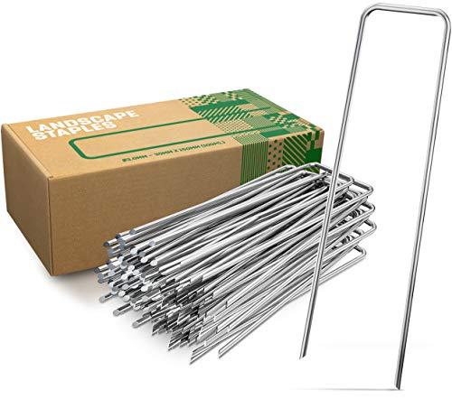 GardenGloss Anti-Rost Erdanker aus Stahl (100 Stück) - Stabile Bodenanker für Unkrautvlies,...