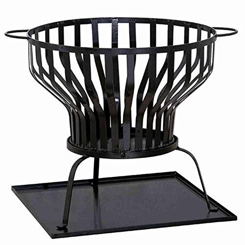 Feuerkorb Tulpa, Stahl schwarz, inklusive Blech Ø 60x57cm