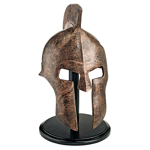 Design Toscano Griechisch-spartanische Helmkorinthische Rüstung Statue, Polyresin, Bronze-Finish,...