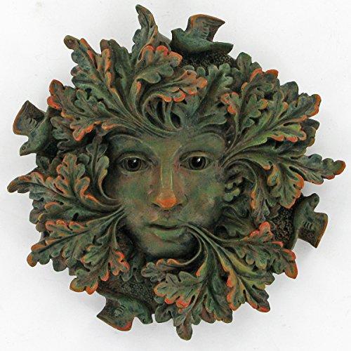 Grüner Geist, Greenman dekorative Garten-Wand-Plakette. 12,5 cm