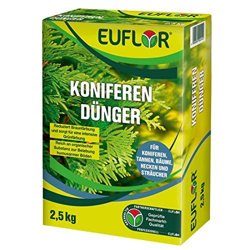 Euflor Koniferendünger 2,5 kg•Organisch-mineralischer NPK-Dünger 5+4+6 mit 4%...
