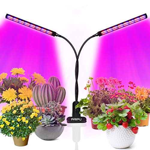 PAIPU LED Pflanzenlampe, UV & IR Lampe 96 LEDs Grow Lampe dimmbar Pflanzenlicht Vollesspektrum...