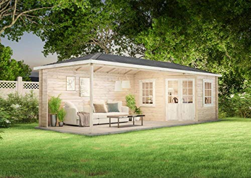 Alpholz Gartenhaus Mississippi-40 aus Massiv-Holz | Gerätehaus mit 40 mm Wandstärke | Garten...