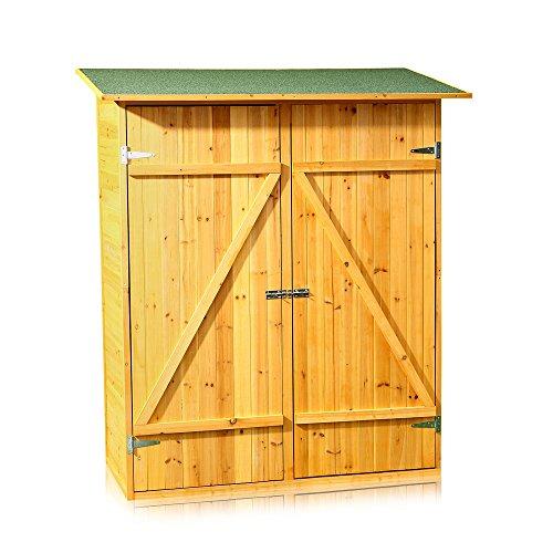 Melko Gerätehaus XXL Geräteschrank Geräteschuppen Gartenschrank, aus Holz, braun, 162 x 140 x 75...