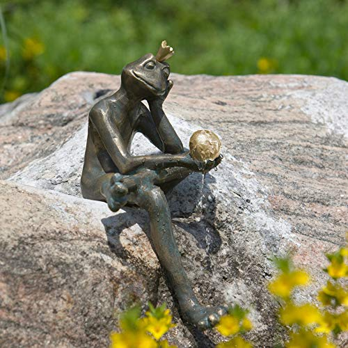 Rottenecker Gartenfigur Froschkönig Borris, Bronze, Höhe: 35 cm