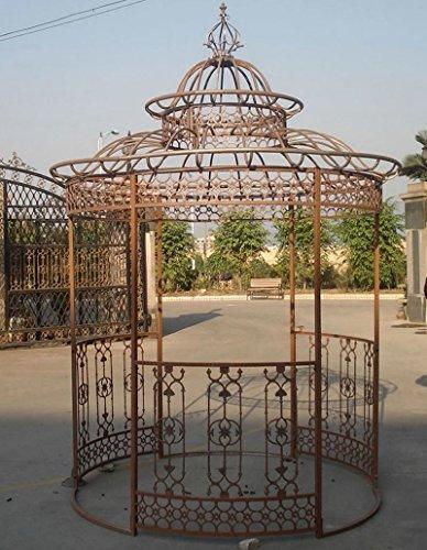 CLP Garten-Pavillon Crown, Pavillion mit Seitenwänden, rund Ø 2 Meter, Höhe 340 cm, stabiles...