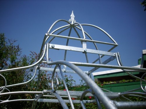 KUHEIGA Pavillon 10mm Massiveisen Rosenspalier Eisen Zink