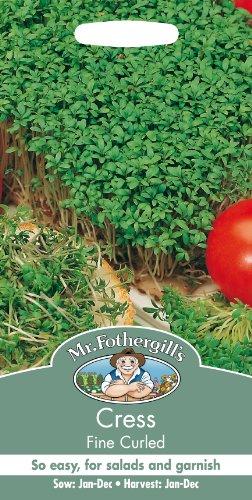 Mr. Fothergill's 10865 Samen Gekrauste Gartenkresse, 4000 Samen