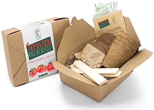 Satte Saat Verrücktes Tomaten Anbauset - Anzuchtset zum Anbauen seltener Tomaten wie Tigerella und...