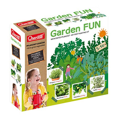 beluga Spielwaren 0690D Garden FUN Basilikum/Petersilie/Oregano/Salbei 0690D-Garden Pflanzset, Natur