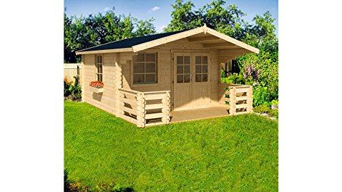 NORDIC HOLZ Set: Gartenhaus Klingenberg 2, BxT: 360x510 cm, 28 mm Natur