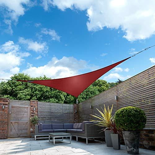 Kookaburra Wasserfest Sonnensegel Weinrot Wasserabweisend Imprägniert Wetterschutz 98% UV Schutz...