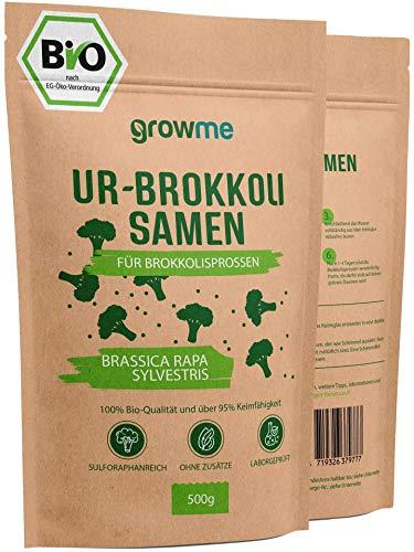 BIO Brokkoli-Sprossen Samen [500g] - Brokkoli-Samen mit über 95% Keimfähigkeit und einmalig hohem...
