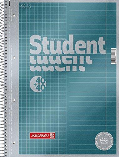 Brunnen 1067174 Notizblock / Collegeblock Student Premium Duo (Veredeltes Deckblatt mit...