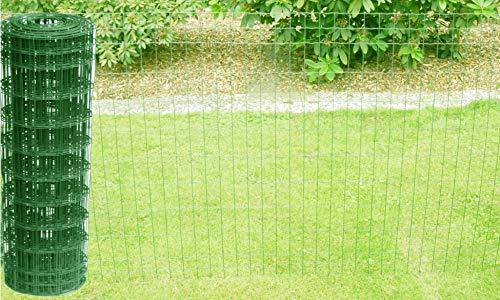 Schweißgitterzaun als Gartenzaun Wildzaun Gitterzaun in grün RAL 6005 1,0 m - 1,5 m hoch...