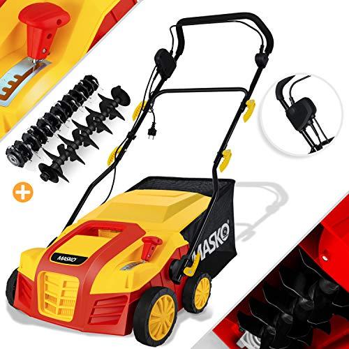 MASKO® Elektro 2in1 Vertikutierer Rasenlüfter 1800 Watt 40cm Arbeitsbreite 55L Fangkorb inkl....