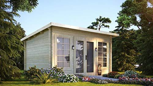 Vikträ Gartenhaus Cleveland 40 ISO Blockhaus 420x320cm 40mm Holzhaus Gerätehaus
