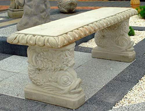 Casa Padrino Gartenbank im orientalischen Stil Weißgrau 140 x 38 x H. 50 cm - Parkbank - Garten...
