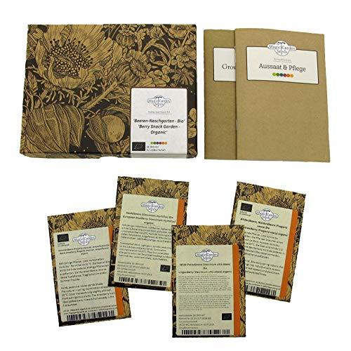 Beeren-Naschgarten (Bio) - Samen-Geschenkset mit 4 himmlischen, aromatischen Beerensorten für die...