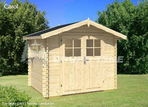 Gartenhaus CAROL - A28 Blockhaus Holzhaus Gerätehaus 260 x 200 cm - 28 mm