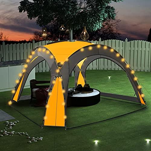 Festnight Event Pavillon Partyzelt Eventzelt Beleuchtung Solarlampen Festzelt Gartenpavillon mit 4...