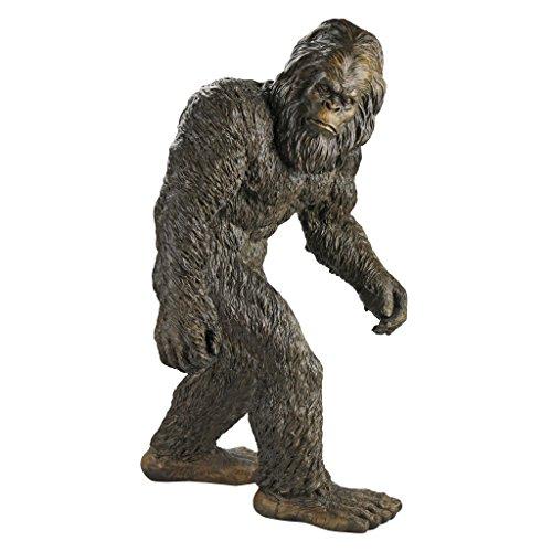 Design Toscano Bigfoot-Yeti Gartenfigur, Polyresin, Vollfarbe, groß 71 cm
