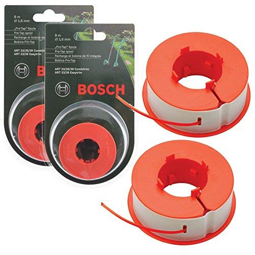 """Bosch """"Pro-Tap"""" Spule, 16 m, für Rasentrimmer, Originalteil, passend für Bosch ART 23/26/30..."""