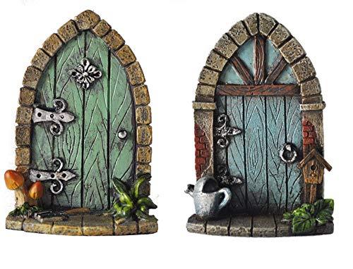 Fiesta Studios Miniatur Pixie, Elf, Fee Tür - Tree Garden Home Decor - Spaß skurrile Geschenk...