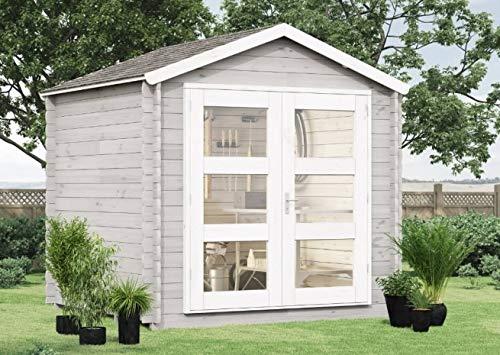 Alpholz Gartenhaus Lommel aus Massiv-Holz | Gerätehaus mit 19 mm Wandstärke | Garten Holzhaus...