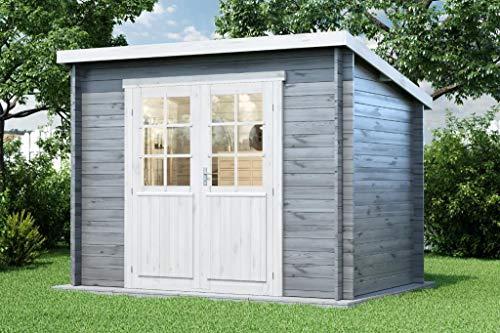 Alpholz Gartenhaus Martina-28 aus Massiv-Holz   Gerätehaus mit 28 mm Wandstärke   Garten Holzhaus...