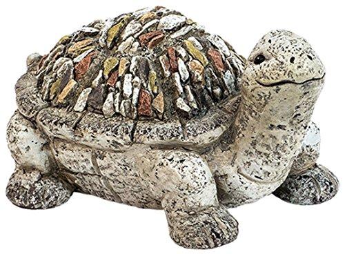 Deko-Gartenfigur Dekotier Schildkröte in Kieseloptik H14xB28xT22cm