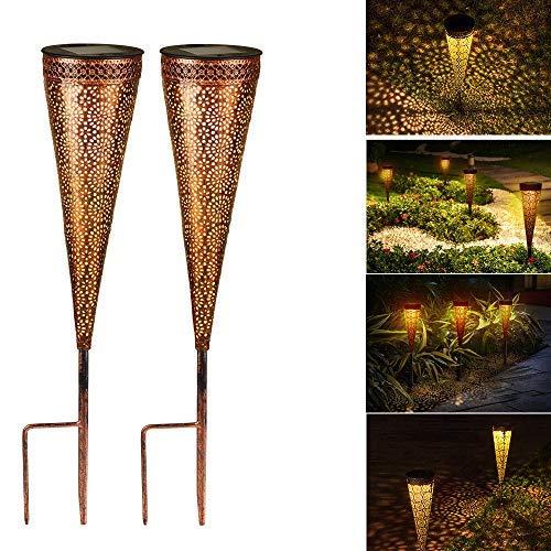 Solarlaterne für außen, Solar Laternen IP44 Wasserdichte für Außen Garten,Dekorative...