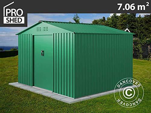 Dancover Geräteschuppen Metallgerätehaus 2,77x2,55x1,92m ProShed®, Grün
