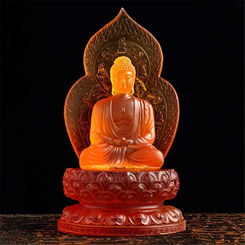 FFDGHB Antike Sakyamuni Buddha Figur Dekoration Meditation Sitzposition Reise Anbetung Charmant Und...