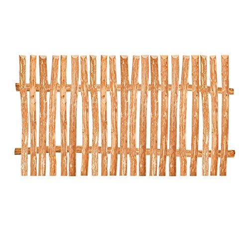 BooGardi Zaunelement Haselnuss • 90 Größen • 120 x 200 cm (3-4 cm) • Staketenzaun Bausatz...