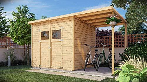 Alpholz Gerätehaus Mollie Plus aus Fichten-Holz   Gartenhaus mit 14mm Wandstärke   Holzhaus...
