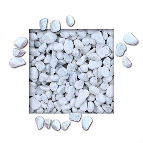 Kieskönig 5 kg Marmorkies Carrara Weiss verschiedene Körnungen direkt Körnung 25/40 mm