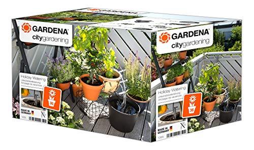 Gardena city gardening Urlaubsbewässerung: Pflanzenbewässerungs-Set für drinnen und draußen,...
