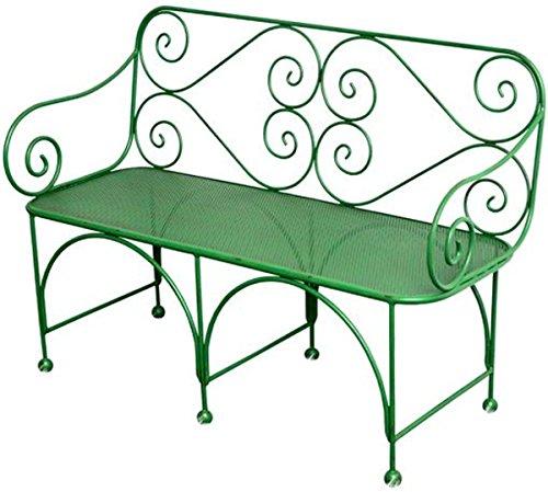 Casa Padrino Gartenbank mit perforirter Sitzfläche - Art Deco Gartenmöbel