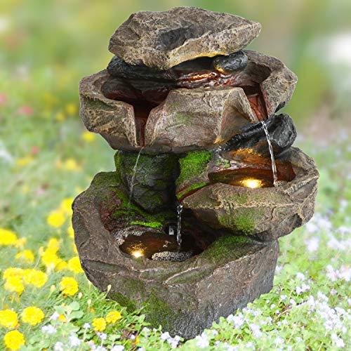 AMUR 230V Gartenbrunnen Brunnen Zierbrunnen Zimmerbrunnen Brunnen Springbrunnen Vogelbad...