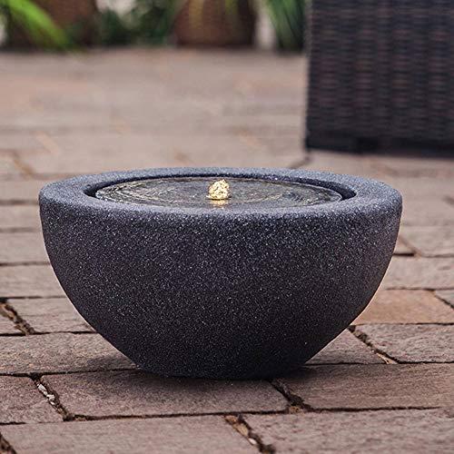 Heissner Gartenbrunnen Half Ball Black LED