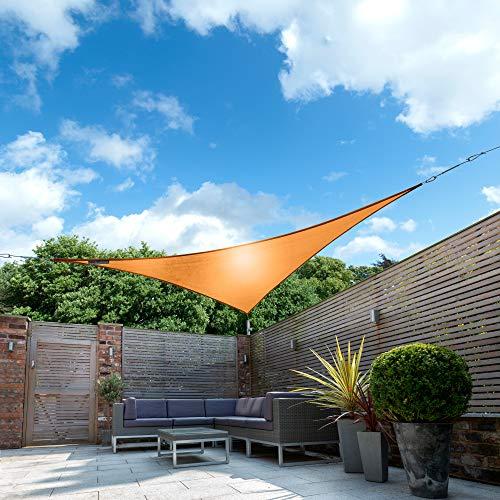 Kookaburra Wasserfest Sonnensegel 5,0m Dreieck Orange