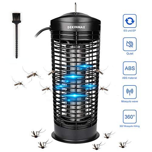 DEKINMAX Elektrischer Insektenvernichter, 11W-UV Insektenvernichter Mückenfalle Fliegenfalle...